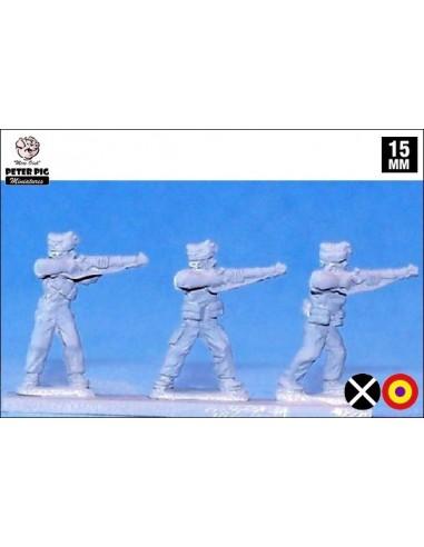 15mm Milicianos disparando en gorra isabelina