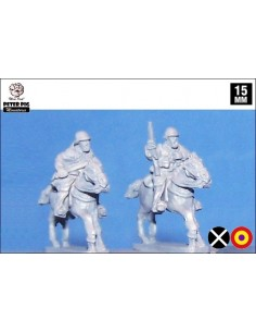15mm Cavalry in helmet