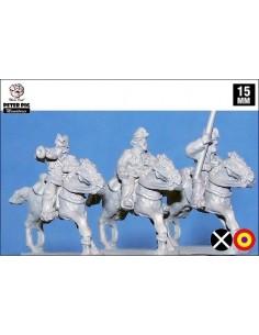15mm Oficiales de caballería en gorra