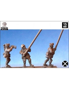 15mm Nationalist standards and buglers
