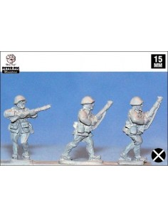 15mm Infanteria feixista avançant en casc