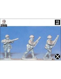 15mm Infantería franquista en casco avanzando