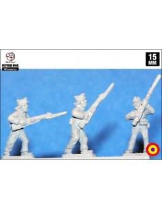 15mm Female militia in overalls
