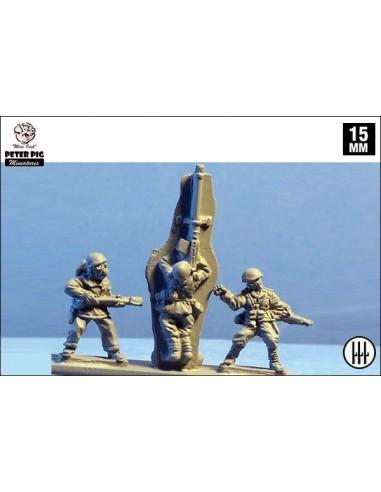 15mm Lanzallamas, anticarro y granaderos italianos