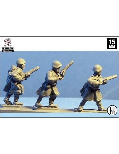 15mm Infantería italiana en abrigo