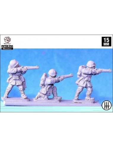15mm Infanteria italiana disparant