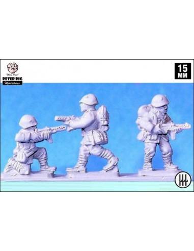 15mm Infantería italiana con subfusil