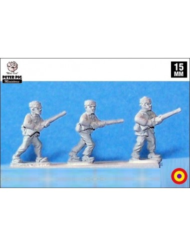 15mm Infanteria republicana avançant en passamuntanyes