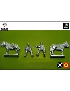 15mm Oficiales a caballo
