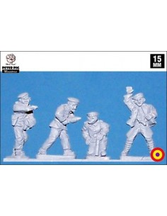 15mm Gun crew in beret