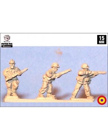 15mm Infantería republicana en casco Adrián