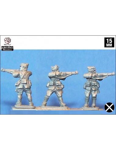 15mm Infantería franquista disparando de pie