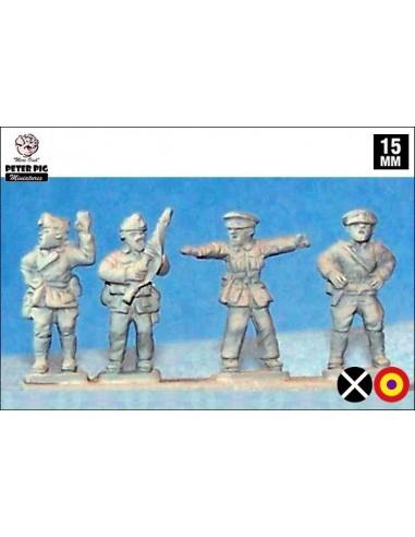 15mm Generals on foot