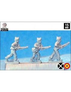 15mm Milicianos avanzando en gorra isabelina