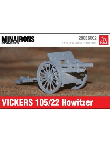 1/72 Vickers 105mm howitzer