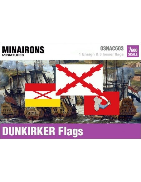 1/600 Dunkirk privateer flags