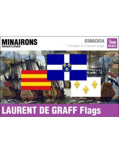 1/600 Laurent de Graff privateer flags