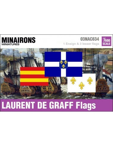 1/600 Laurent de Graff privateer flags