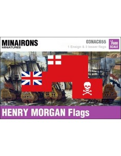 1/600 Henry Morgan privateer flags