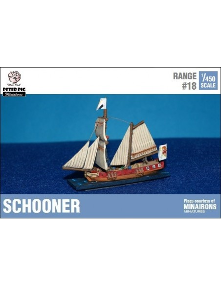 1/450 Schooner small ship
