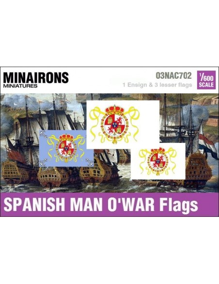 1/600 Spanish Man-of-war flags