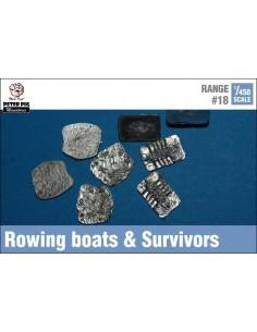 1/450 Botes de remo y supervivientes