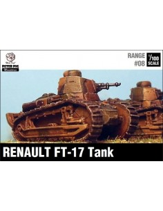 1/100 Renault FT-17 con torreta octogonal + MG