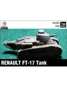 1/100 Renault FT-17 Round Turret + MG