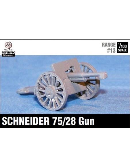 15mm French Schneider 75mm Gun