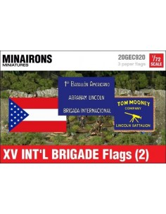 1/72 XV International Brigade Flags (2)