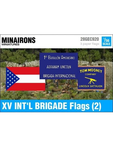 1/56 XV International Brigade Flags (2)