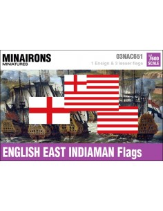1/600 English East Indiaman flags