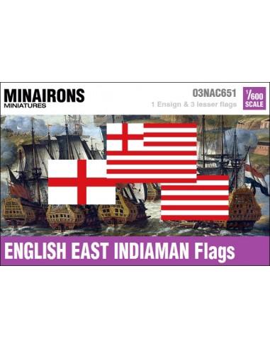 1/600 English East Indiaman flags