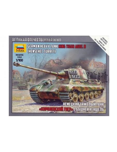 1/100 Carro King Tiger Ausf. B - Caja de 1