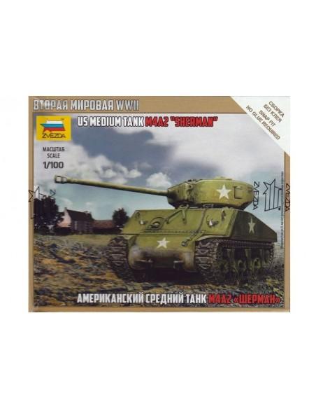 1/100 M4A2 Sherman Tank - Boxed kit