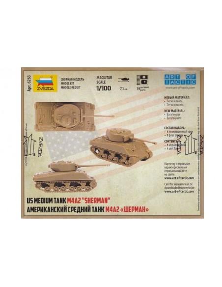 1/100 Tanc M4A2 Sherman - Capsa d'1