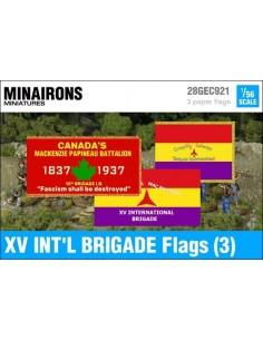 1/56 XV International Brigade Flags (3)
