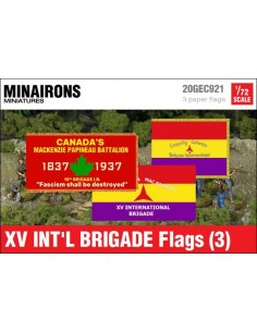 1/72 XV International Brigade Flags (3)