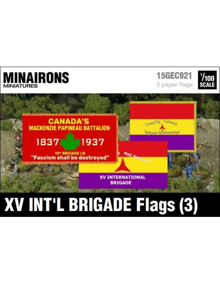 1/100 XV International Brigade Flags (3)