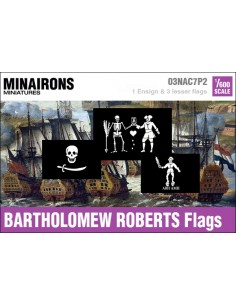 1/600 Bartholomew Roberts pirate flags