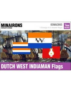 1/600 Dutch West Indiaman flags