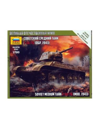 1/100 T-34/76 1943 Tank - Boxed kit