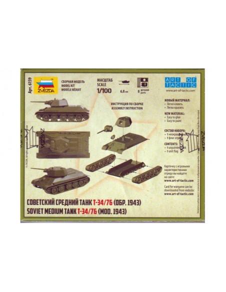 1/100 Carro T-34/76 1943 - Caja de 1