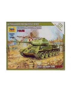 1/100 T-34/85 Tank - Boxed kit