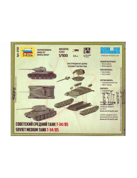 1/100 Carro T-34/85 - Caja de 1