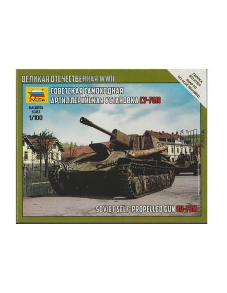1/100 SU-76 self-propelled gun - Boxed kit