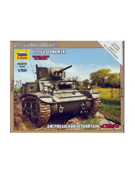 1/100 Tanc M3A1 Stuart - Capsa d'1