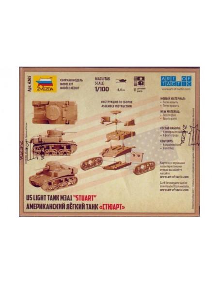 1/100 M3A1 Stuart US Tank - Boxed kit
