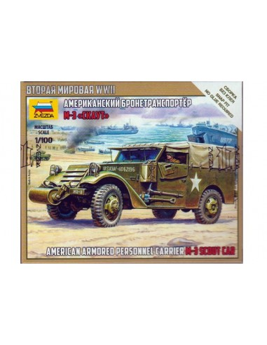 1/100 M-3 Scout armored car - Boxed kit