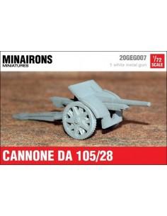 1/72 Canó Ansaldo 105mm